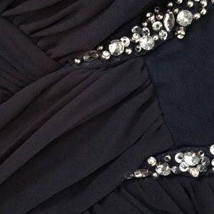 Short formal navy dress